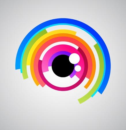 ojos verdes: Icono de ojo abstracto