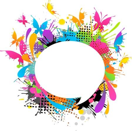 mariposa: Modern textured butterflies background Stock Photo