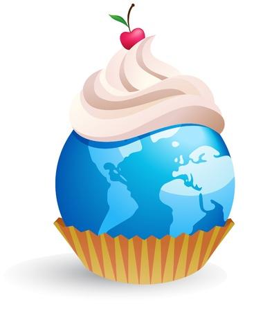 indulgência: world cupcake  Ilustração