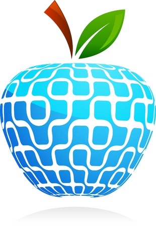global village:  The global village - technology abstract apple