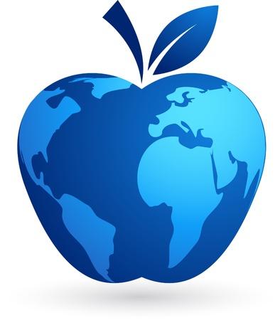 The global village - world apple Stock Vector - 9639179