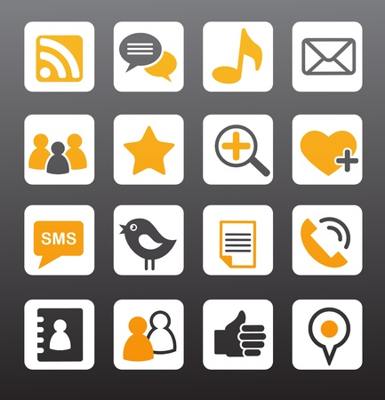 media gadget:  social network vector icons  Illustration