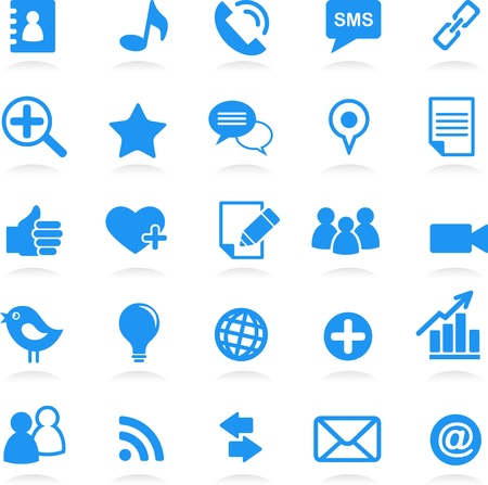 contact icons:  social network vector icons  Illustration