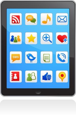 like icon:  vector smart phone social media icons Illustration