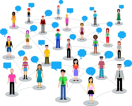people network: many different people