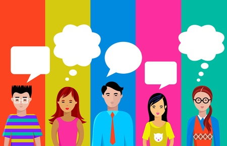 people talk Stock Vector - 9842686