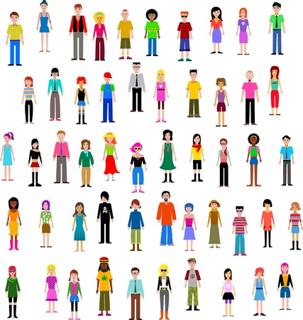 many different people Stock Vector - 9842689