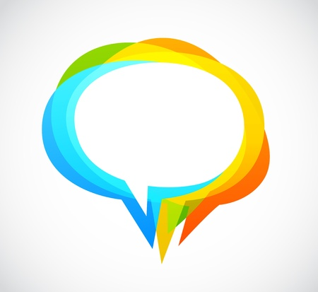 communication tower: Speech bubble - colorful abstract background