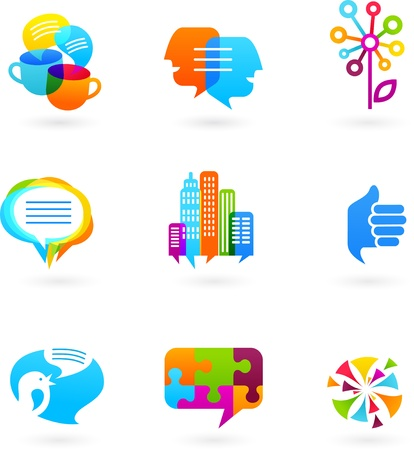 Social network icons and graphic elements Stock Vector - 9842780