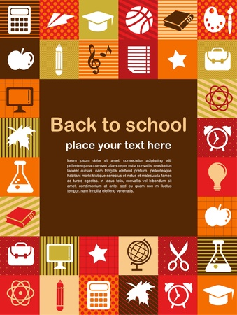 back to school - background with education icons Vector
