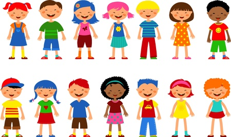 kids - set of cute illustrations Vector