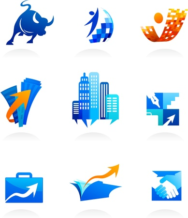 collection of business and consulting icons Stock Vector - 10012695