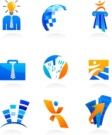 collection of business and consulting icons Vector