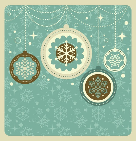 Christmas background with retro pattern Stock Vector - 10833772