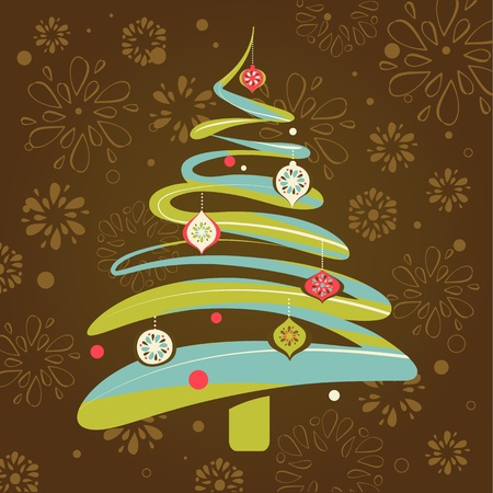 Christmas background with xmas tree Illustration