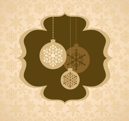 curling: Christmas background with retro pattern