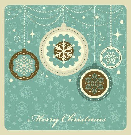Weihnachten Hintergrund mit Retro-Muster