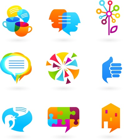 media gadget: Collection of social media and network icons