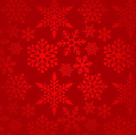 Christmas red background with snowflakes pattern Vector