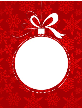Christmas red background with snowflakes pattern Illustration