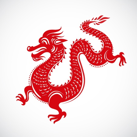 Year of Dragon, Chinese New Year Stock Vector - 11037685