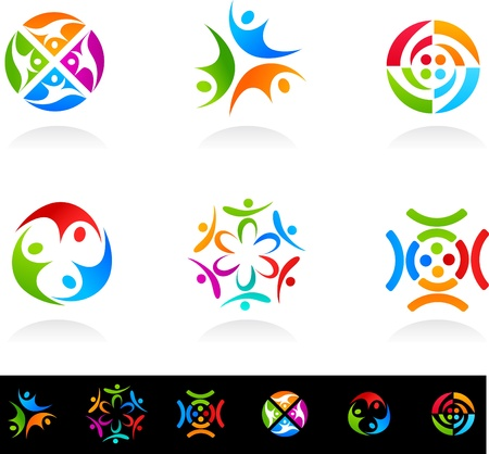 Colección de iconos de red y medios sociales