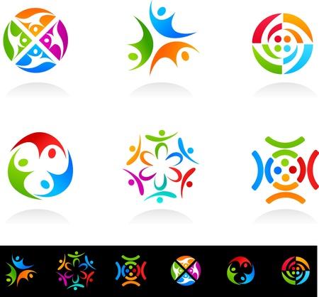 conexiones: Colecci�n de iconos de red y medios sociales
