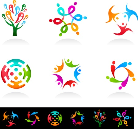 Collection of social media and network icons Stock Vector - 11037703