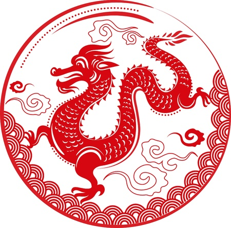 Year of Dragon, Chinese New Year Stock Vector - 11037701