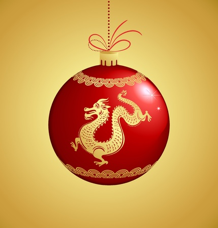Year of Dragon, Chinese New Year Vector