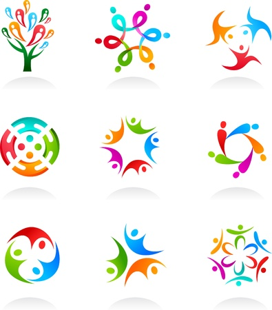 people icon: Collection of social media and network icons
