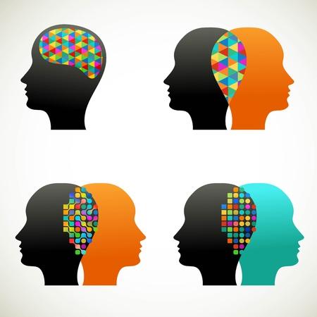 alianza: La gente habla, pensar, comunicarse Vectores