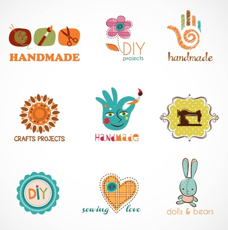 Craft and do it yourself, collection of icons Vector
