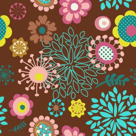 nahtlose Blumenmuster Hintergrund