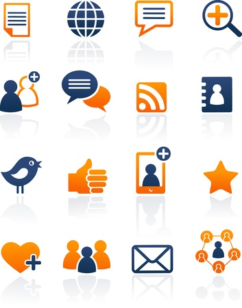 social media icons: Social Media and network icons, vector set
