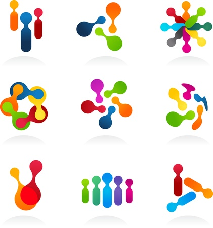 meeting element: Social Media and network icons, vector set