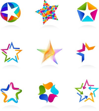 star icons: collection of star icons, vector