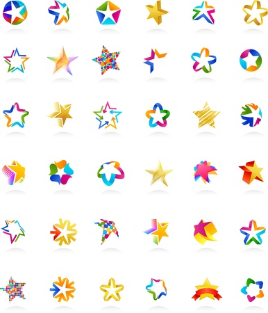 star icons: collection of star icons