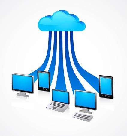 postazione lavoro: internet nuvola