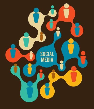 Social Media and network illustration Stock Vector - 13397278