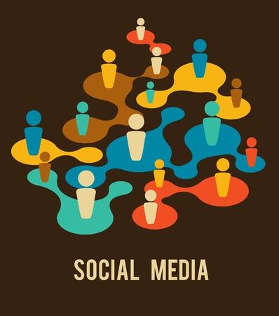 talking: Social Media and network illustration