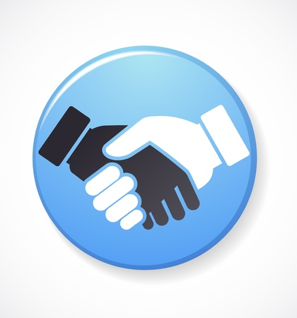 business partnership: collection of handshake icons and symbols