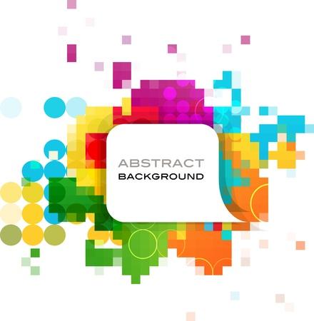 pamphlet: colorful abstract background design Illustration