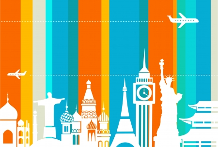 voyage: Illustration de fond de voyage Illustration