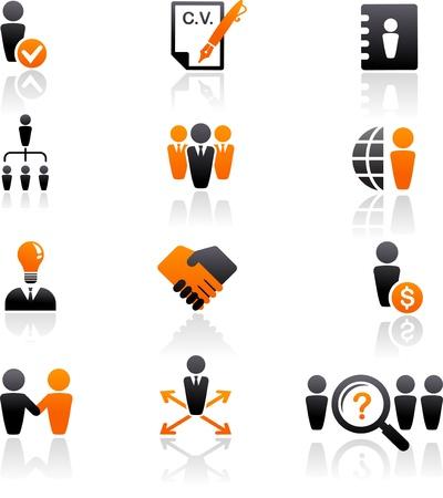 corporate hierarchy: raccolta di icone delle risorse umane