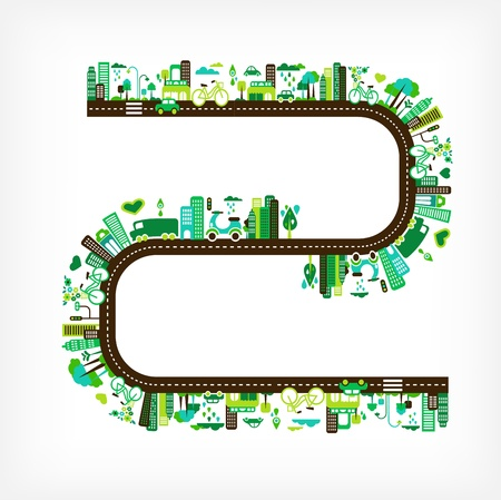 green city - environment and ecology Stock Vector - 13955816