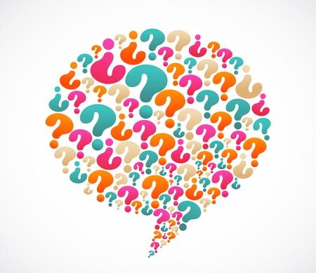signo de interrogacion: Discurso burbuja con los iconos de signo de interrogación Vectores