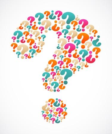 el signo de interrogación con los iconos de la burbuja del habla