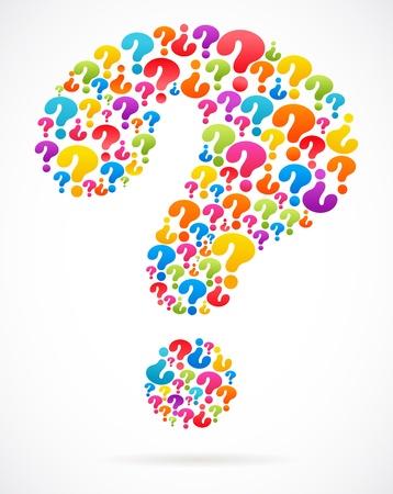 signo de pregunta: signo de interrogaci�n con los iconos de la burbuja del discurso Vectores