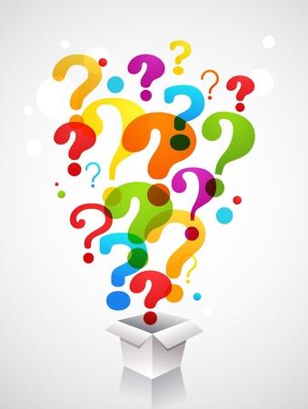 punto di domanda: box con icone punto interrogativo Vettoriali